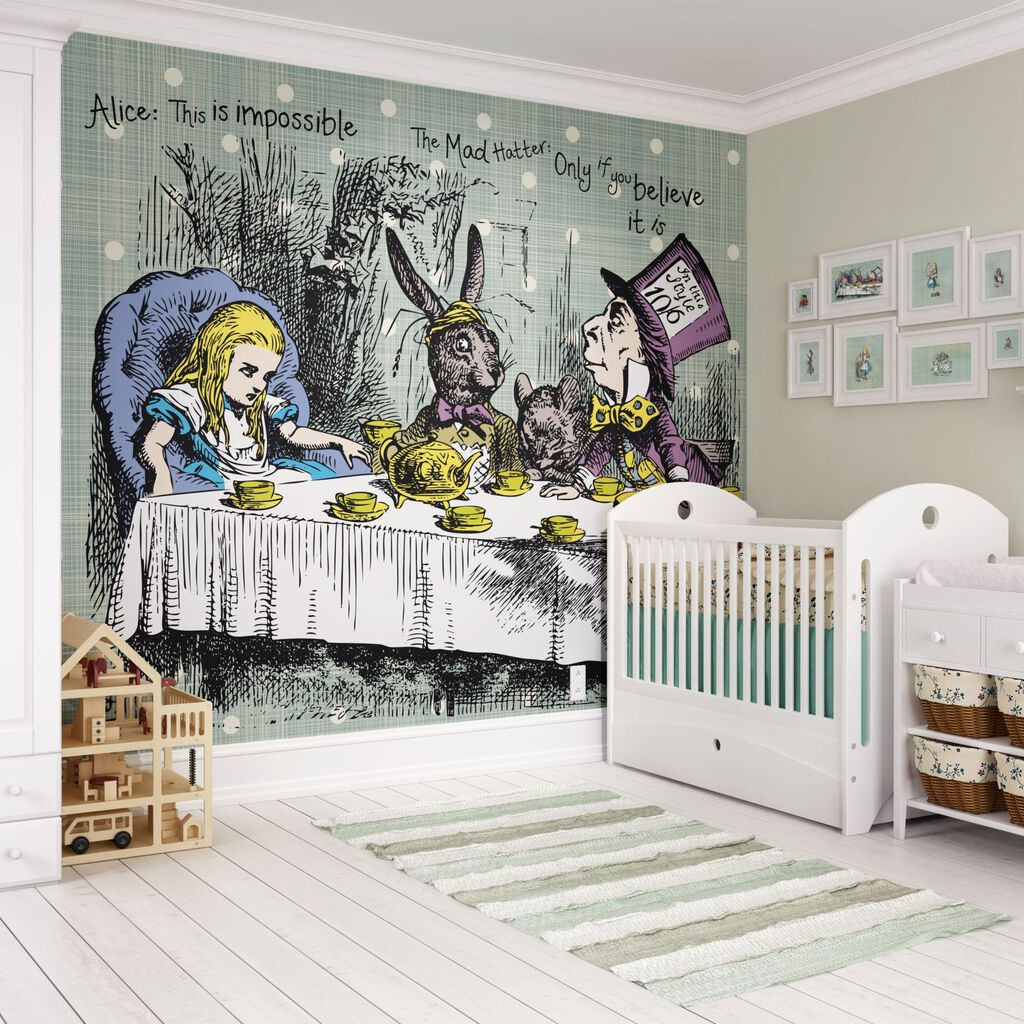 Tea Party Wall Ready Made Mural, , large