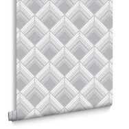 Trifina Geo Silver Wallpaper, , large