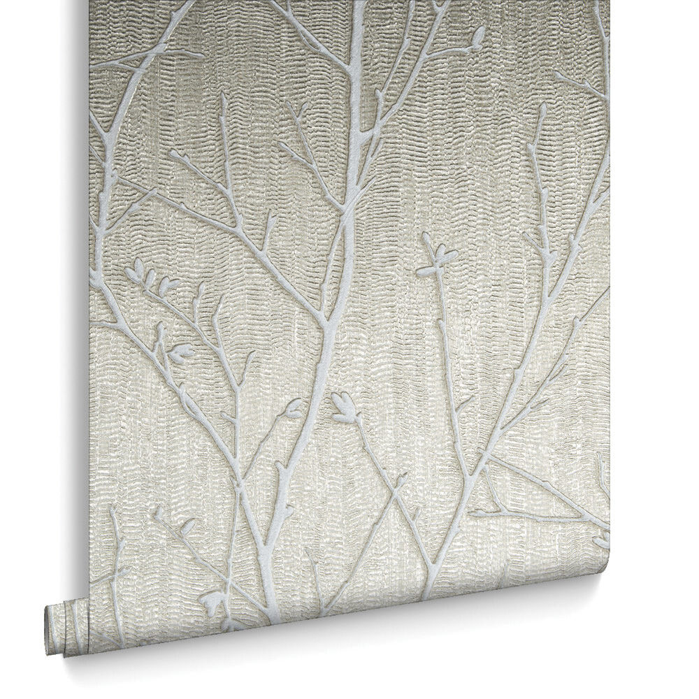 water silk sprig taupe