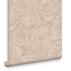 Marbled Pebble and Rose Gold Wallpaper, , large