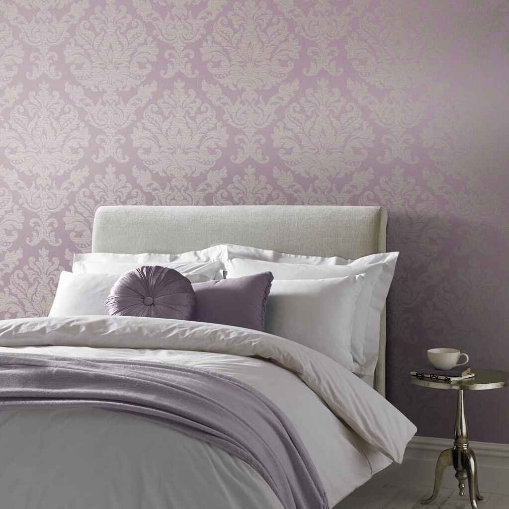 Antique Lilac Wallpaper, , large