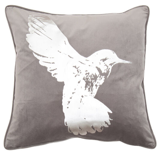 Hummingbird Kissen Silver Metallic, , large