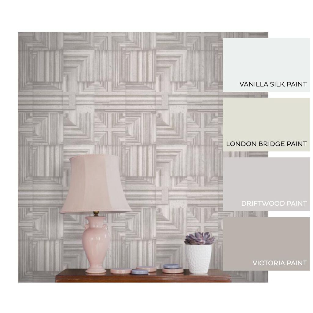 Labyrinth Taupe Behang, , large