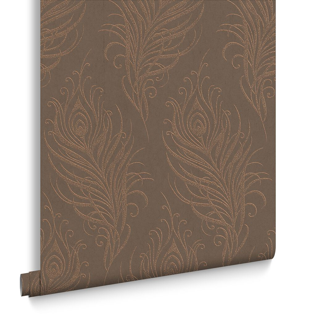 Quill Copper Wallpaper, , large