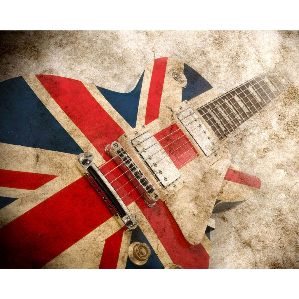 Rock Guitar Wall Ready Made Mural, , large
