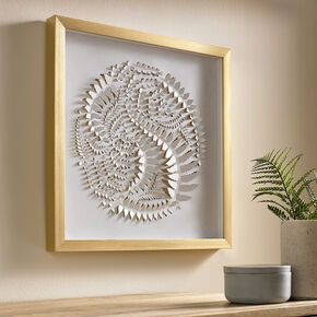 Golden Leaves Framed Wall Art, , large