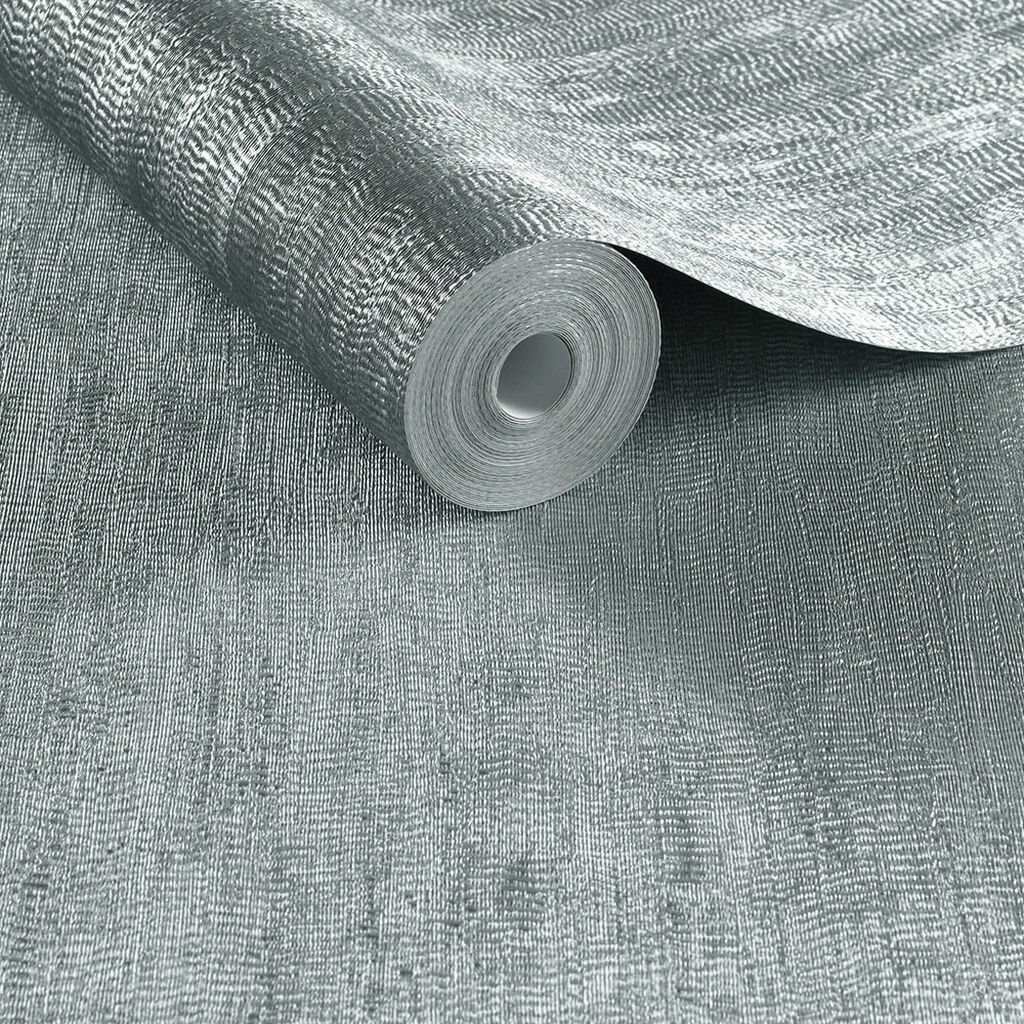 Water Silk Plain Teal Wallpaper, , large