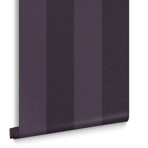 Heritage Stripe Plum Wallpaper, , large