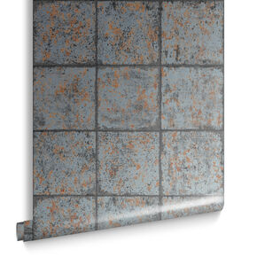 Oxidised Tile Tapete Rostbraun, , large