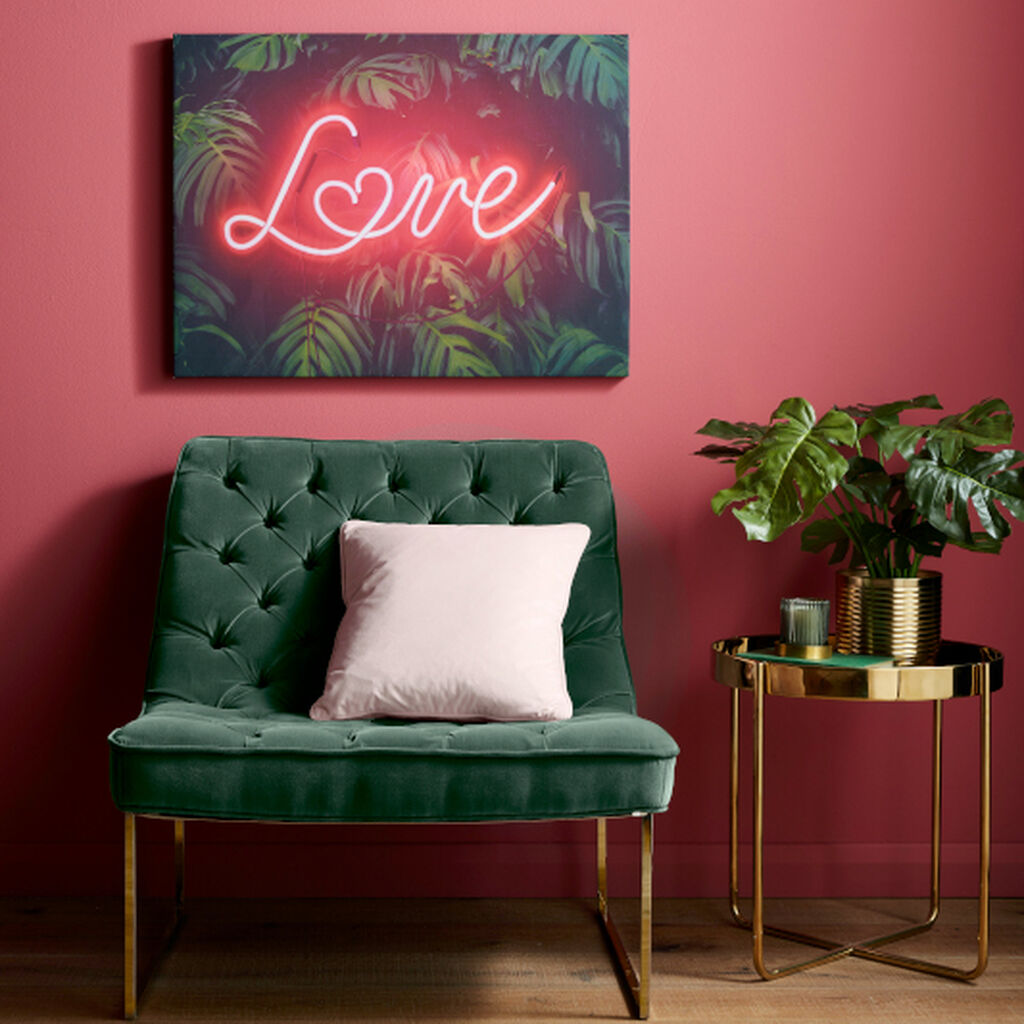 Tropical Neon Love Wall Art, , large
