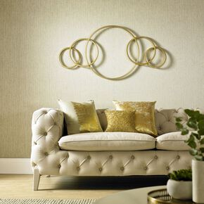 Eternity Gold Metallic Metal Wall Art , , large