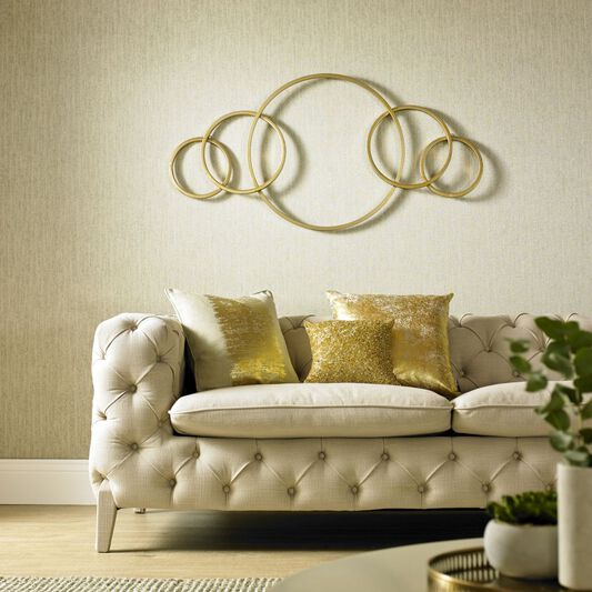 Eternity Gold Metallic Metal Wall Art, , large