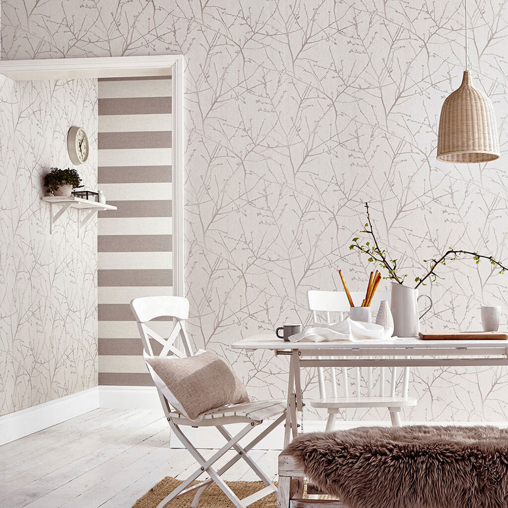 Innocence Stone and Cream Wallpaper, , large