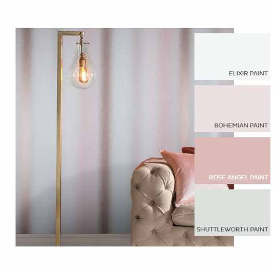 Papier Peint Wild Flower Stripe Blush, , large