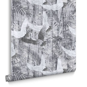 Crane Grey Behang, , large