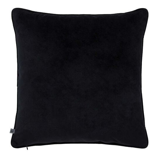 Gothic Butterfly Black & Silver Cushion, , large