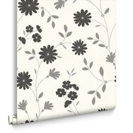 Belle Black and White Wallpaper, , large