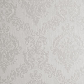 Large Damask Ivory Shimmer Wallpaper