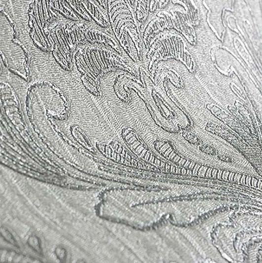 Corsetto Damask Light Silver Behang, , large