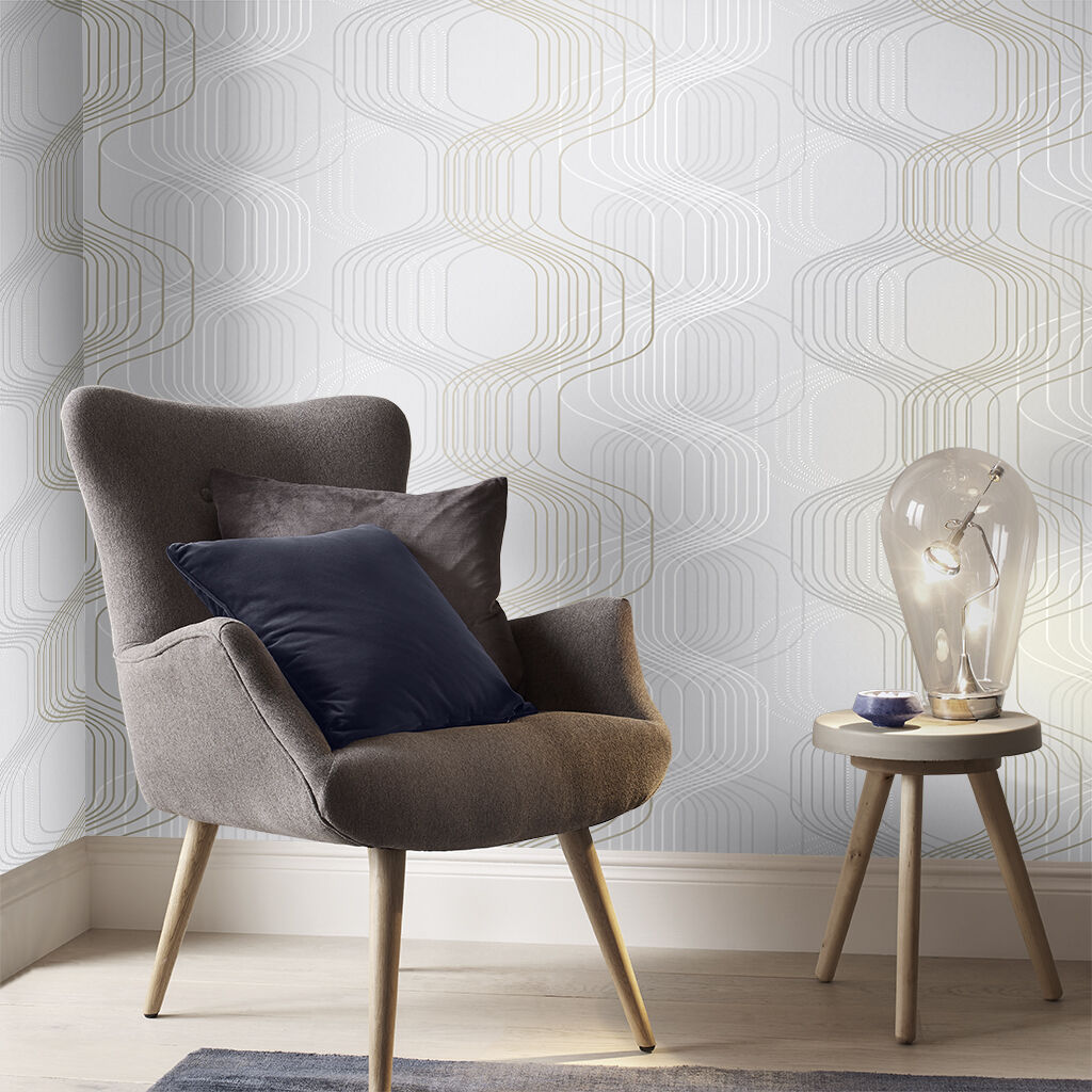 Revival Tempest Grey Wallpaper, , large