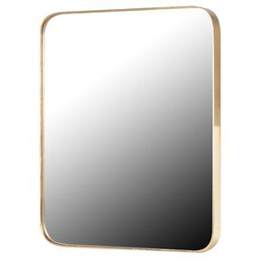 Sleek Gold Simplistic Mirror, , large
