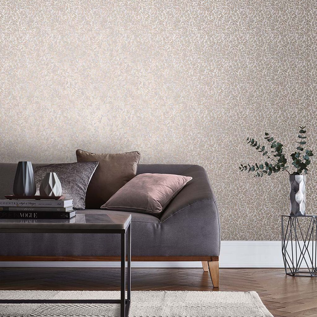 Botany Soft Rose Gold Wallpaper, , large