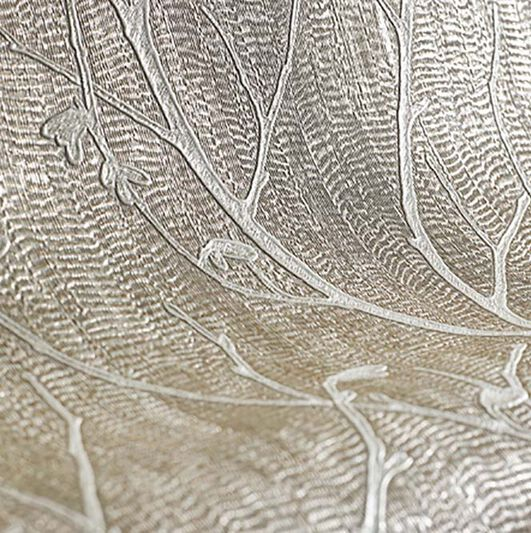 Water Silk Sprig Tapete Rotgold, , large