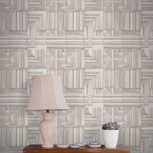 Labyrinth Taupe Wallpaper, , large