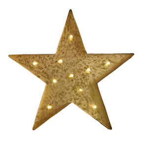 Lit Star Metal Wall Art, , large