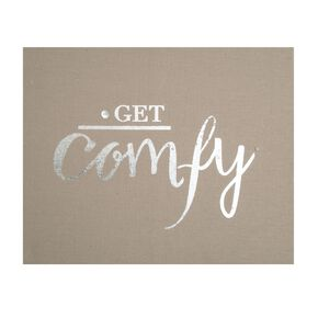 Get Comfy Embellished Fabric Canvas Wall Art , , large