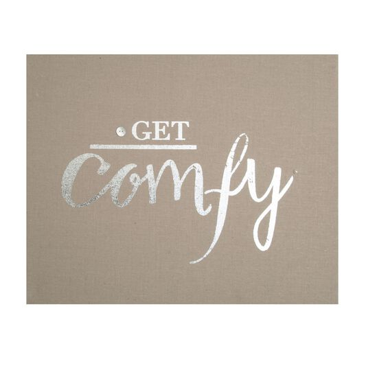 Get Comfy Embellished Fabric Canvas Wall Art, , large