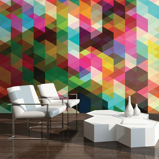 Geometrix Wall Ready Made Mural, , large