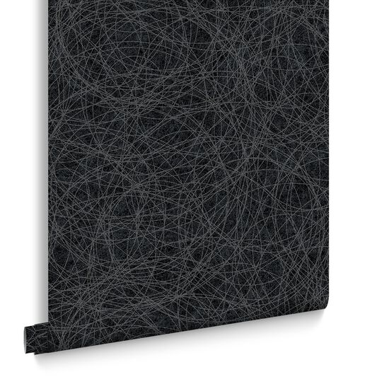 Twist Charcoal and Silver Wallpaper, , large