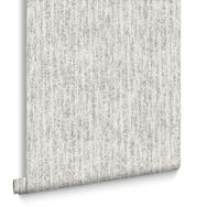 Devore White & Silver Behang, , large