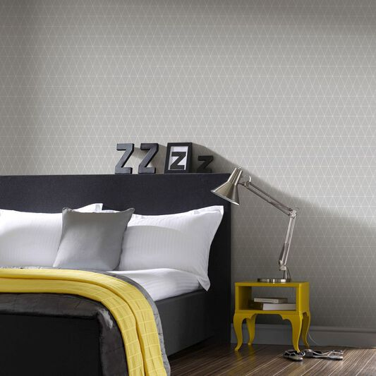 Triangolin Gray Wallpaper , , large