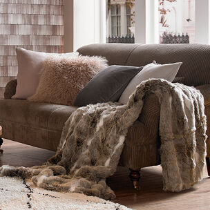 Cosy Hygge Faux Fur Throw, , large