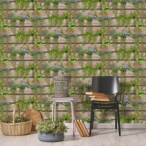 Palissa Vegetal Green Wallpaper, , large