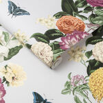 Bloomsbury Clancy Gray Wallpaper