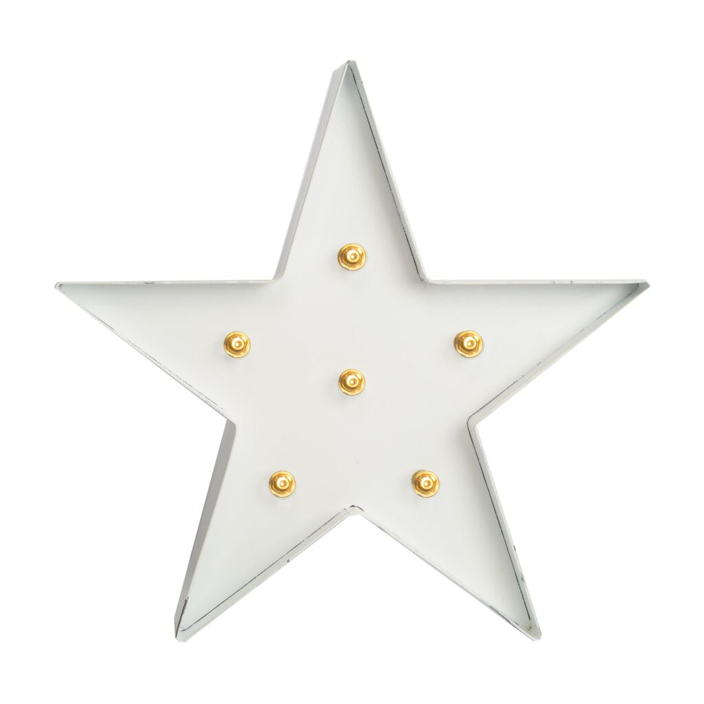 White Light Star Metal Wall Art , , large