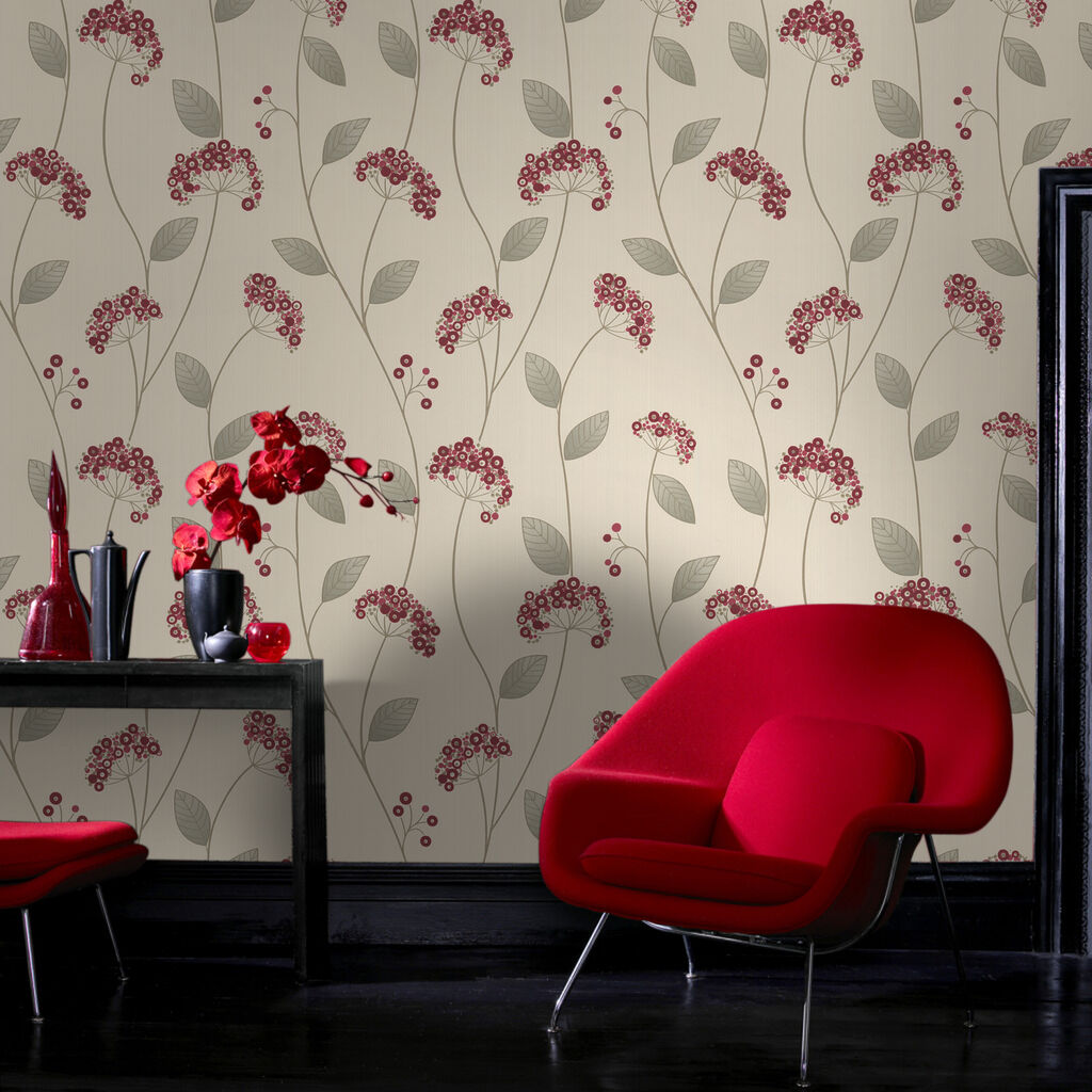 Claire Red Wallpaper, , large