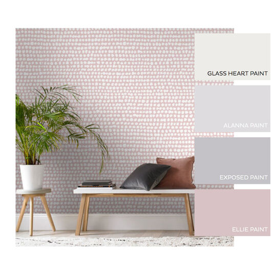 Dots Pink Behang, , large