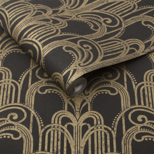 Black And Gold Wallpaper Art Deco Wallpaper