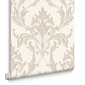 Oxford Pearl & Beige Behang, , large