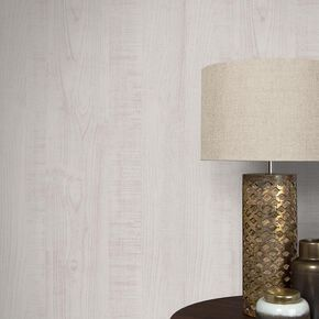 Wood Grain White Wallpaper, , large