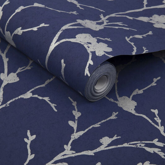 Meiying Cobalt Wallpaper, , large