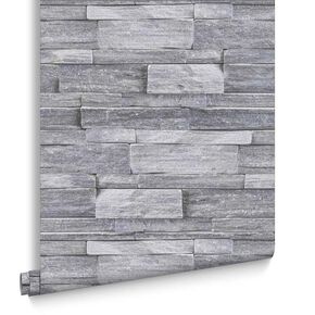 Stone Wall Grey Wallpaper, , large