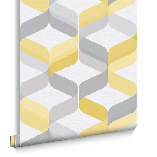 Retro Lemon Wallpaper, , large