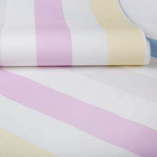 Cotton Candy Stripe Wallpaper, , large