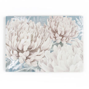 Teal Bloom Printed Canvas Wall Art, , large
