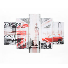 Union Montage Set Of 5 Printed Canvas Wall Art , , large